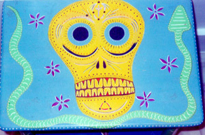 Day of the Dead (Dia de los Muertos) sugar skull table by Andrea Drugay