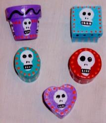 Day of the Dead (Dia de los Muertos) sugar skull boxes by Andrea Drugay