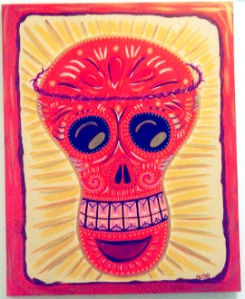 Day of the Dead (Dia de los Muertos) sugar skull by Andrea Drugay