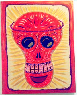 Day of the Dead (Dia de los Muertos) sugar skull by Andrea Drugay