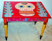Day of the Dead (Dia de los Muertos) sugar skull table by Andrea Drugay