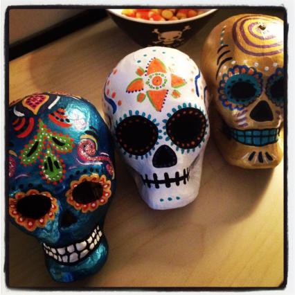 Day of the Dead (Dia de los Muertos) sugar skulls by Andrea Drugay